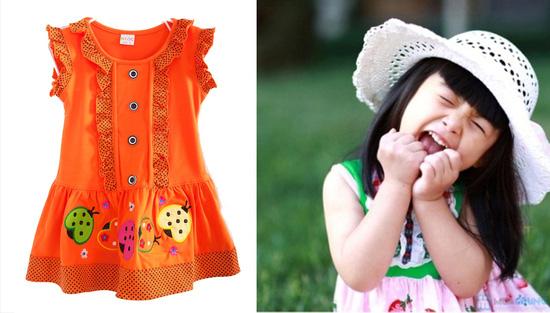 Đầm mặc nhà bé gái từ 2 -3 tuổi - 8