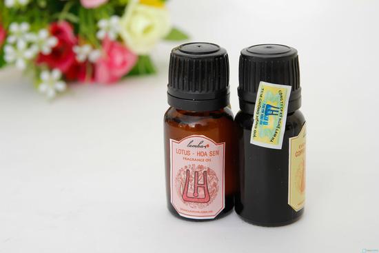 Combo 2 lọ tinh dầu nguyên chất cafe và hoa sen - 3