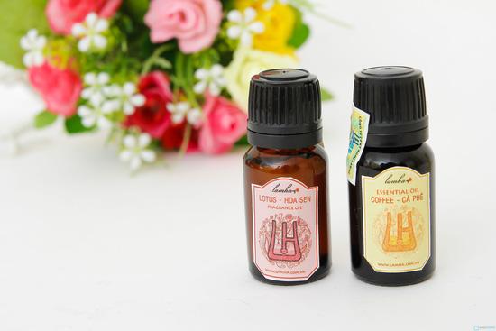 Combo 2 lọ tinh dầu nguyên chất cafe và hoa sen - 5