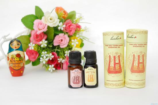 Combo 2 lọ tinh dầu nguyên chất cafe và hoa sen - 2