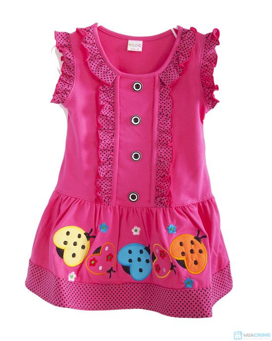 Đầm mặc nhà bé gái từ 2 -3 tuổi - 2