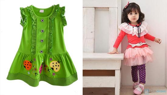 Đầm mặc nhà bé gái từ 2 -3 tuổi - 6