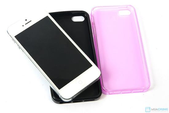 Miếng dán màn hình + Ốp lưng silicon Iphone 5 - 8