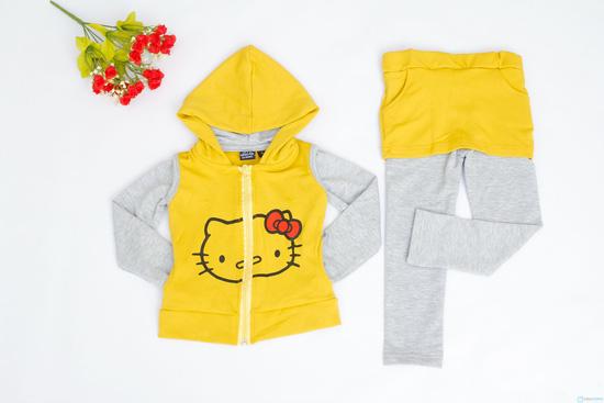 Bộ quần áo cotton nỉ cho bé - 5