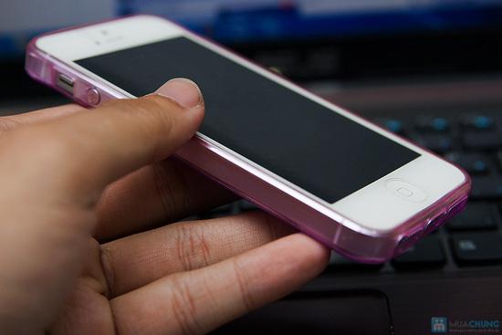 Miếng dán màn hình + Ốp lưng silicon Iphone 5 - 6