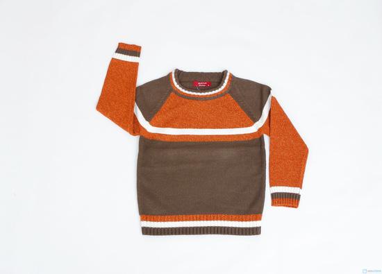 Áo len cổ tròn phối màu cho bé trai - 3