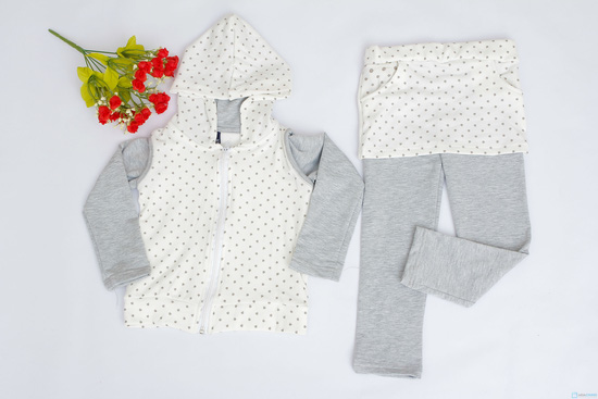 Bộ quần áo cotton nỉ cho bé - 1