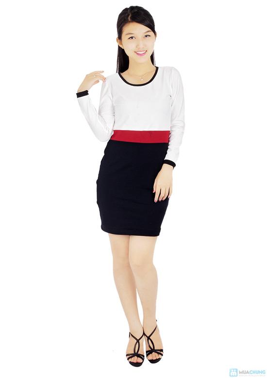 Đầm thun tay dài thời trang công sở Mina - 1