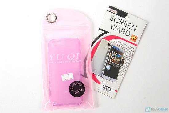 Miếng dán màn hình + Ốp lưng silicon Iphone 5 - 3
