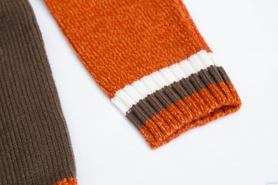 Áo len cổ tròn phối màu cho bé trai - 5