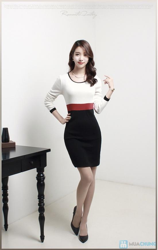 Đầm thun tay dài thời trang công sở Mina - 8