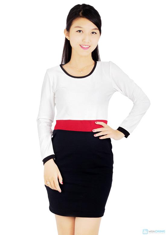 Đầm thun tay dài thời trang công sở Mina - 2