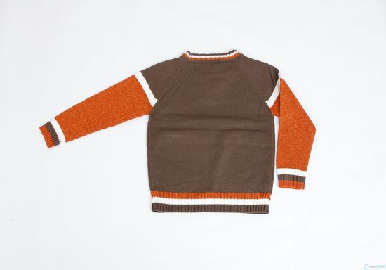 Áo len cổ tròn phối màu cho bé trai - 12