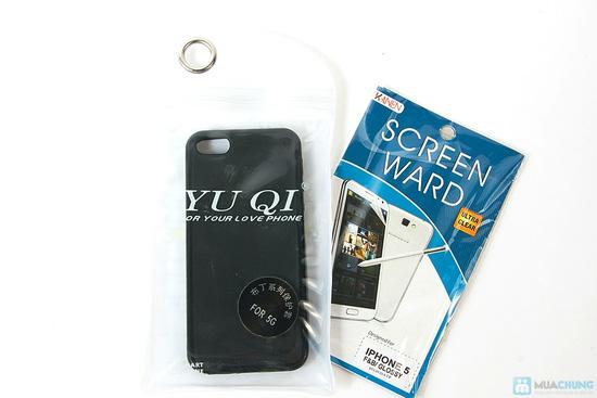 Miếng dán màn hình + Ốp lưng silicon Iphone 5 - 2