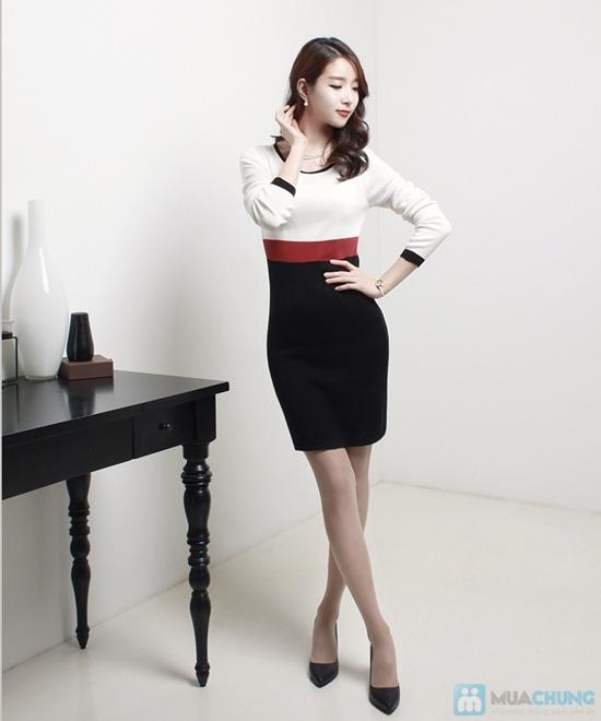 Đầm thun tay dài thời trang công sở Mina - 7