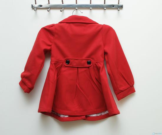 Áo khoác dạ 2 lớp dáng hàn quốc cho bé gái - 7