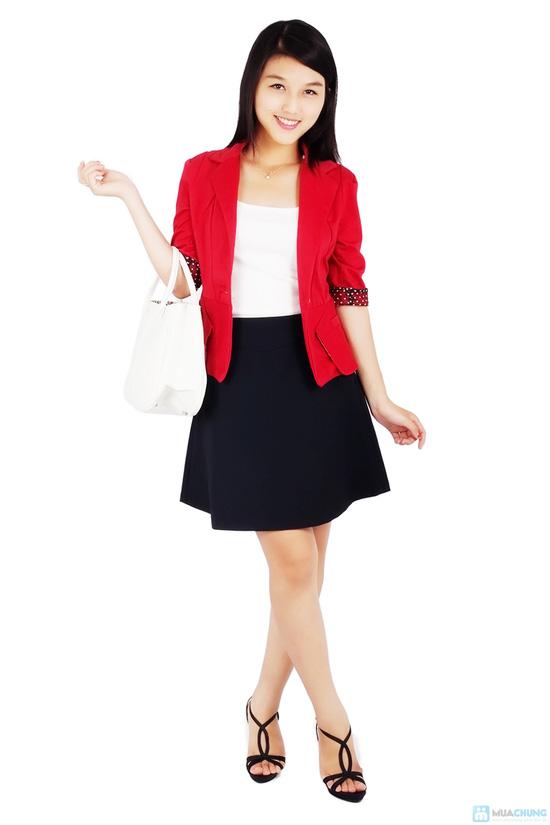 Áo vest nữ phối tay chấm bi - 4