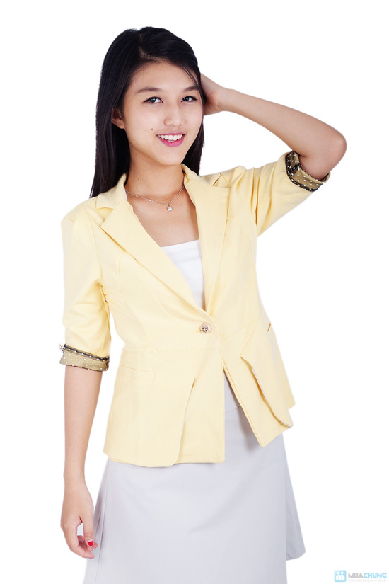 Áo vest nữ phối tay chấm bi - 3