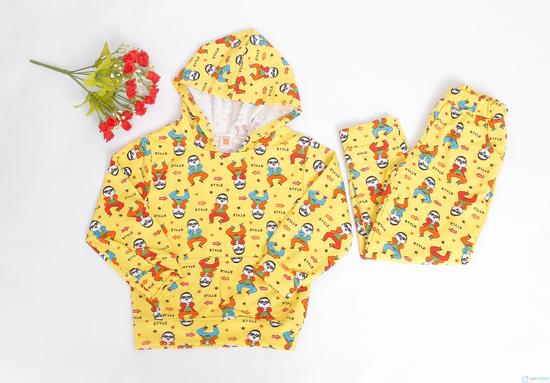 Bộ quần áo nỉ có mũ cho bé - 3