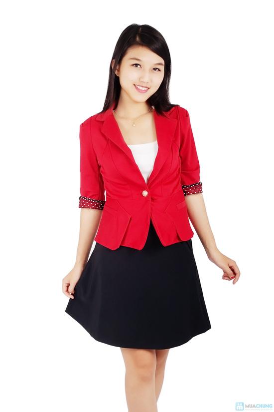 Áo vest nữ phối tay chấm bi - 6