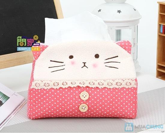 Hộp vải đựng khăn giấy Panda Kitty - 9