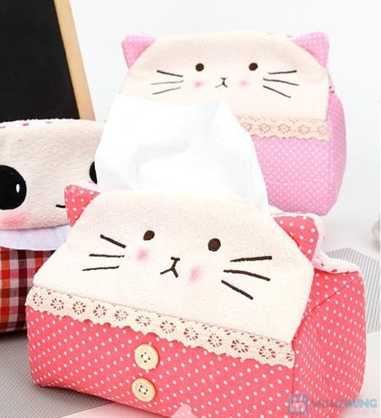 Hộp vải đựng khăn giấy Panda Kitty - 6