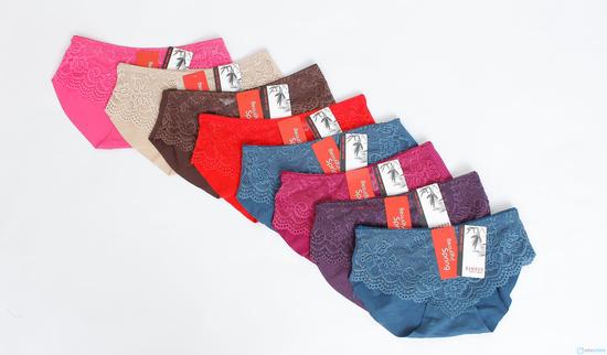 Combo 4 quần chip đúc ren cotton cho nữ - 1