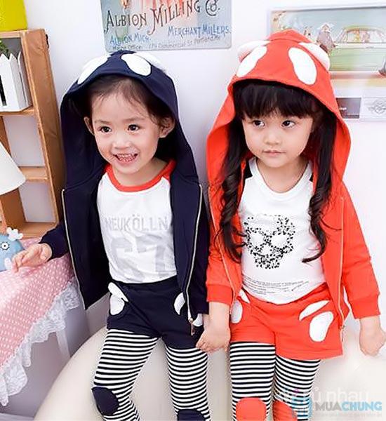 Bộ quần áo nỉ có mũ cho bé - 10