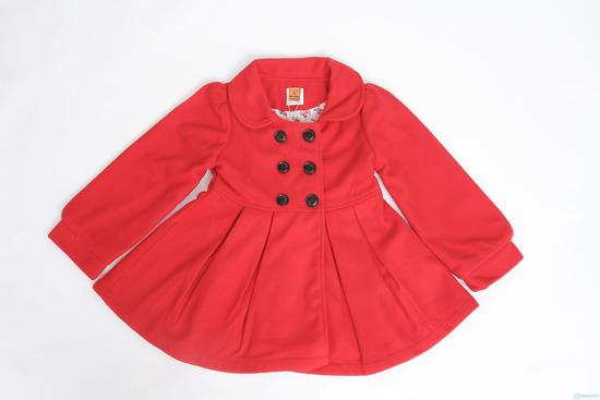 Áo khoác dạ 2 lớp dáng hàn quốc cho bé gái - 3