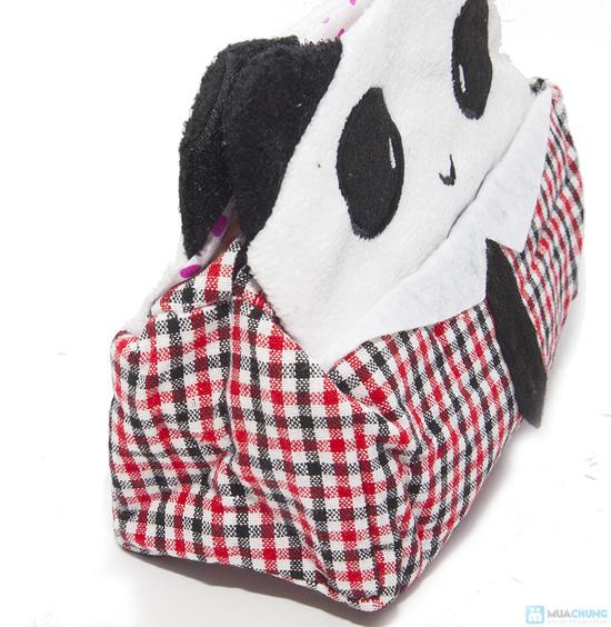 Hộp vải đựng khăn giấy Panda Kitty - 1