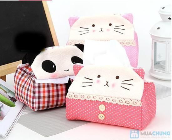 Hộp vải đựng khăn giấy Panda Kitty - 4