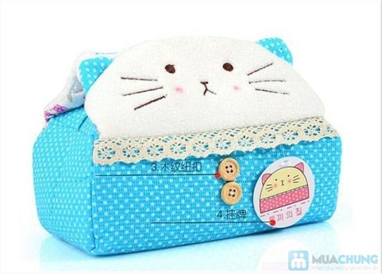 Hộp vải đựng khăn giấy Panda Kitty - 5