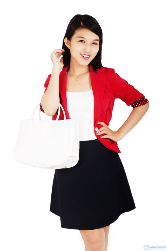 Áo vest nữ phối tay chấm bi - 5
