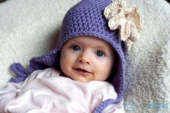 Mũ len móc có tai cực ấm áp ngày lạnh - 1