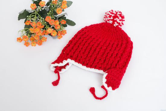 Mũ len móc có tai cực ấm áp ngày lạnh - 8