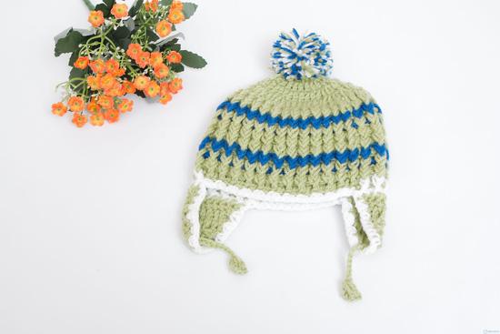 Mũ len móc có tai cực ấm áp ngày lạnh - 6