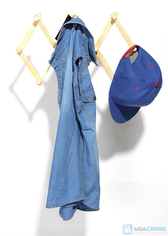 Combo 02 móc treo quần áo bằng tre gấp gọn - 2