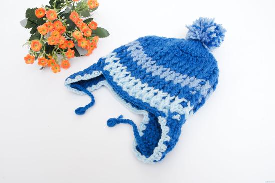 Mũ len móc có tai cực ấm áp ngày lạnh - 2