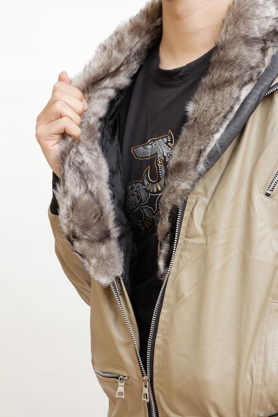 áo da nam body nót nỉ - 5