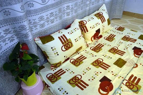 Bộ Drap cotton Thắng Lợi gồm: Drap + vỏ gối - 2