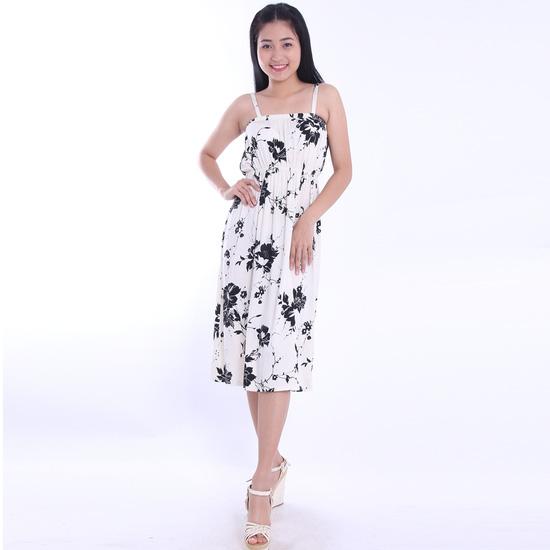 Đầm hoa maxi hai dây