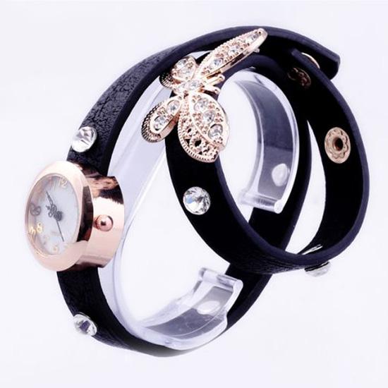 Đồng hồ kèm lắc tay hình bướm xinh xắn