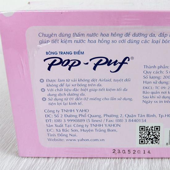 3 hộp bông tẩy trang Pop-Puf
