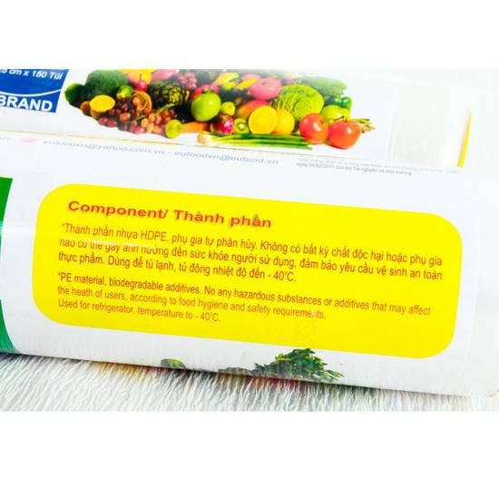 2 cuộn túi đựng thực phẩm tự hủy sinh học