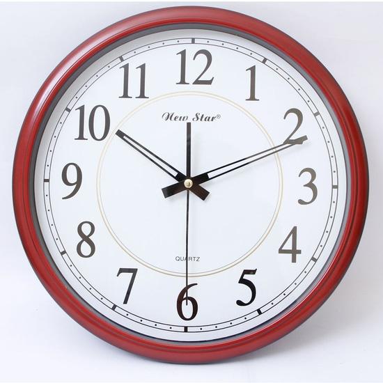Đồng hồ treo tường K53 hai màu trắng, đỏ mận