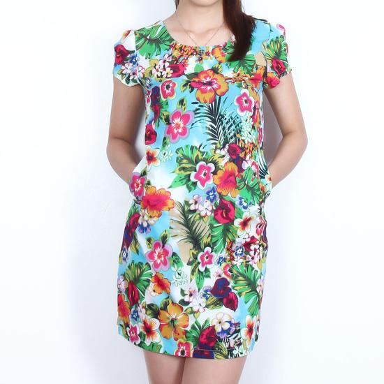 Váy suông họa tiết hoa nữ tính