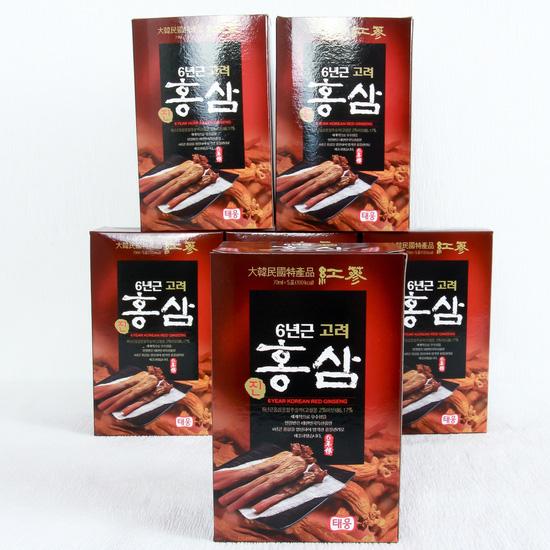 Nước hồng sâm 6 năm tuổi nhập khẩu Hàn Quốc