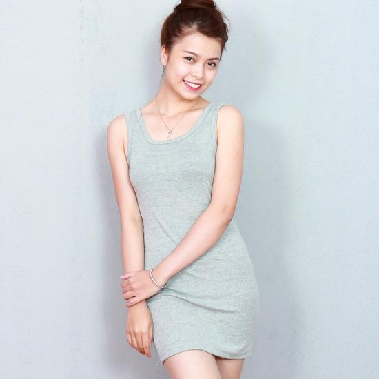 2 váy ba lỗ cotton thoáng mát