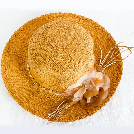 Mũ đi biển vành nhỏ đính hoa