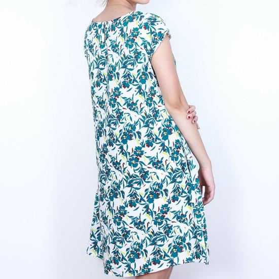 Váy lanh họa tiết sắc màu